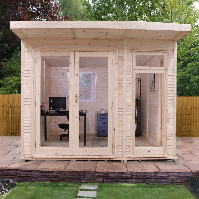 10 x 10 (3.10m x 3.10m) Mercia Insulated Garden Room - Front View Closed Doors