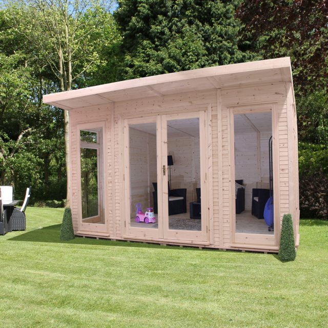 14 x 14 (4.10m x 4.10m) Mercia Insulated Garden Room - Angle View