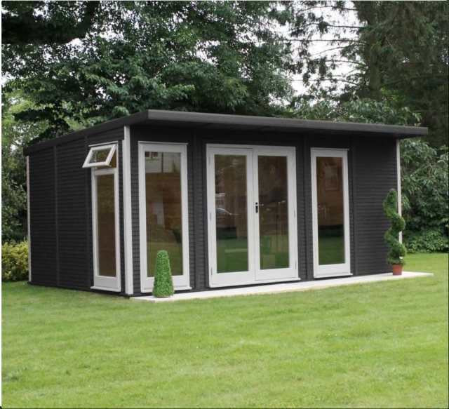 17 x 10 (5.10m x 3.10m) Mercia Insulated Garden Room - Front Angle View
