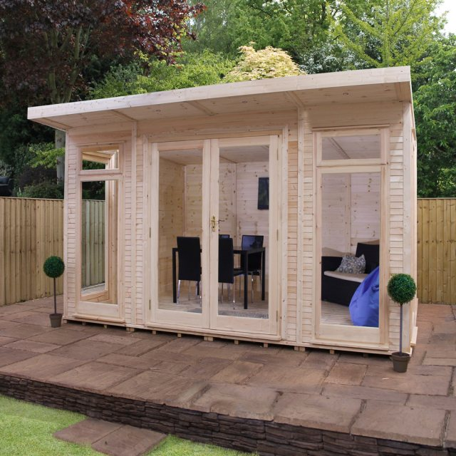 14 x 10 Mercia Insulated Garden Room - Front View