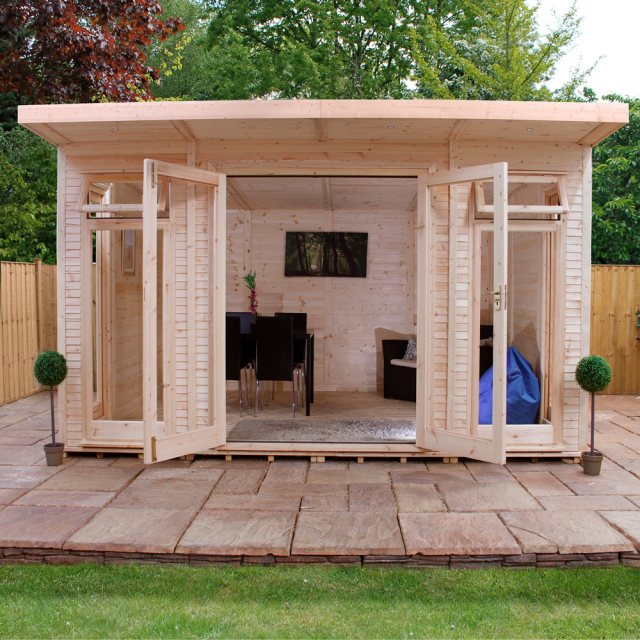 14 x 10 Mercia Insulated Garden Room - Open Doors