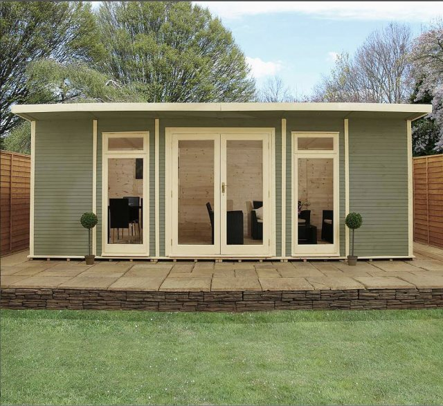 20 x 14 (6.10m x 4.10m) Mercia Insulated Garden Room - Front View