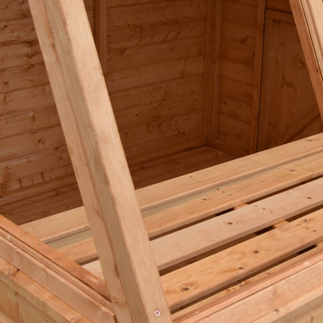 8x6 Shire Iceni Potting Shed - Door in Right Hand Side -  internal potting shelf