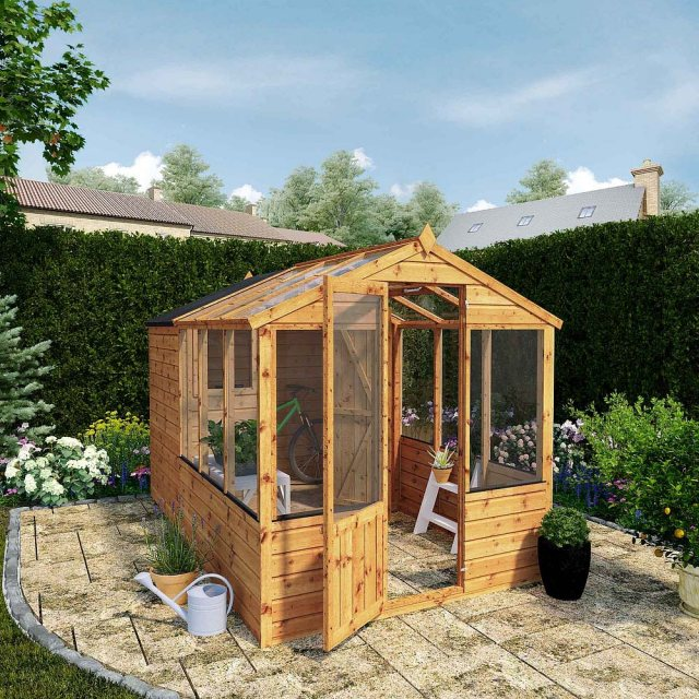 10 x 6 (3.03m x 1.86m) Mercia Greenhouse and Shed Combi