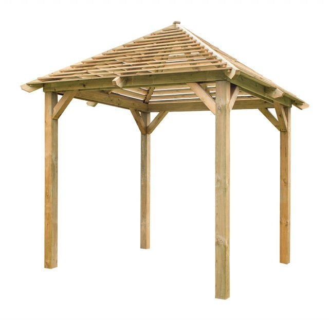 10x10 Forest Venetian Pavilion without Decking -  Pressure Treated  - isloated view