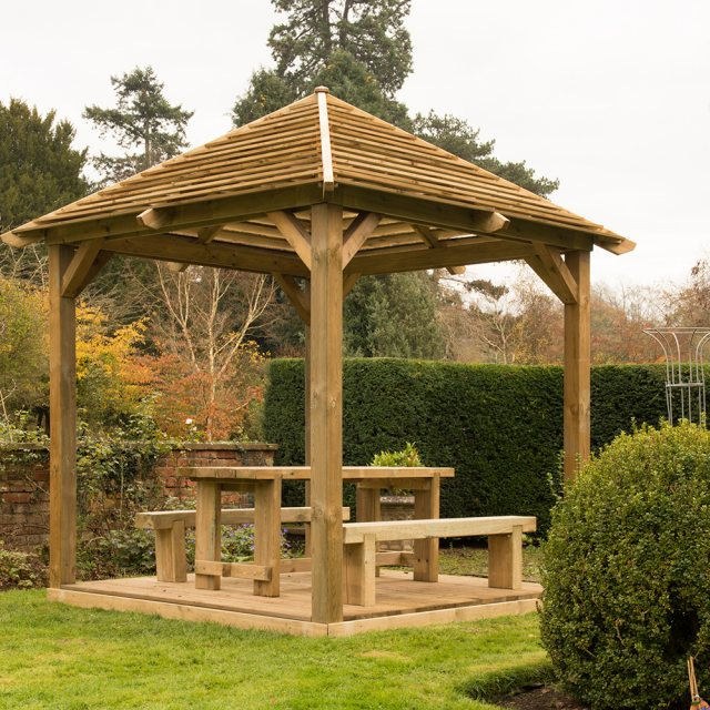 10x10 Forest Venetian Pavilion without Decking -  Pressure Treated