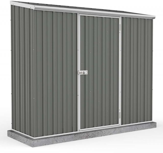 7 x 3 Absco Space Saver Metal Shed in Grey