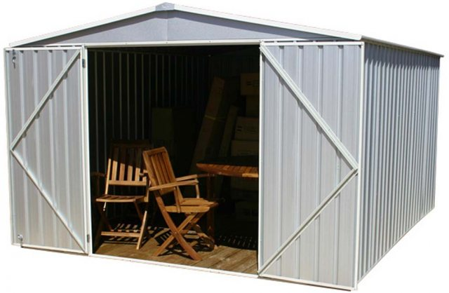 10 x 12 (3.00m x 3.66m) Mercia Absco Regent Metal Shed in Titanium