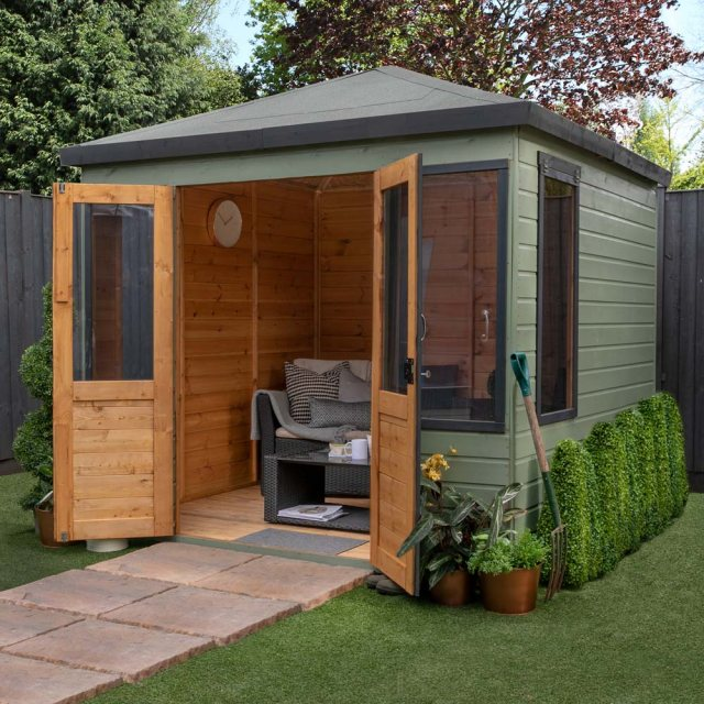 8 x 8 (2.36m x 2.36m) Mercia Clover Summerhouse