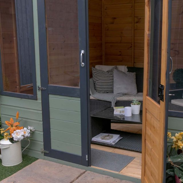 8 x 8 Mercia Clover Summerhouse - Showing interior