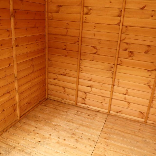 8 x 8 Mercia Vermont Summerhouse - interior showing T&G floor