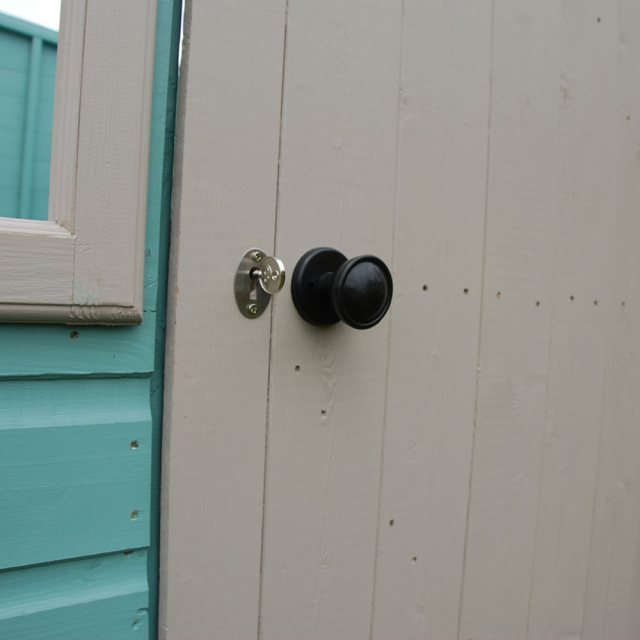 Shire Sun Pent Shiplap Potting Shed - door with rim lock