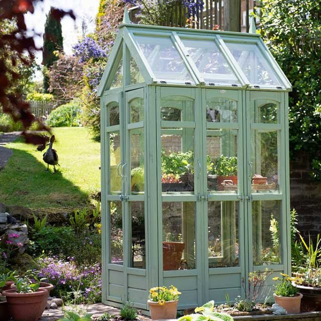 4 x 3 (1.26m x 0.96m) Forest Victorian Walkaround Greenhouse - Painted by customer
