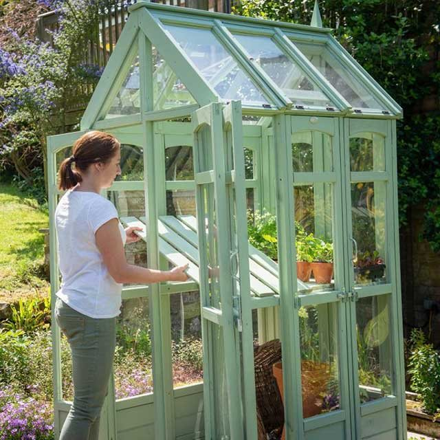 4 x 3 Forest Victorian Walkaround Greenhouse - Removable shelving