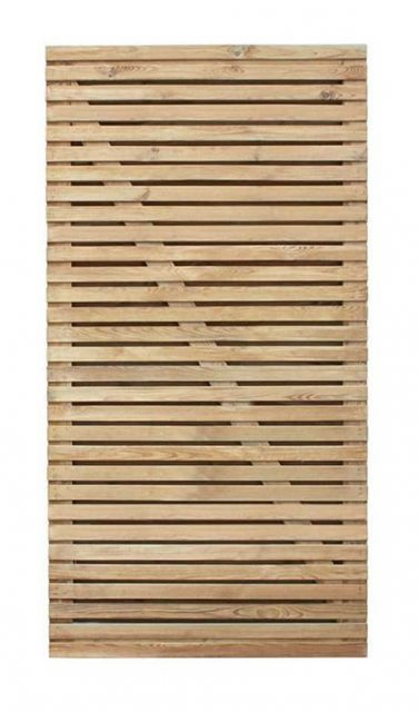 6ft High Forest Contemporary Double-Sided Slatted Gate - Pressure Treated