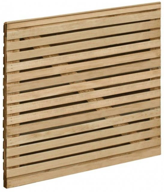 3ft High Forest Contemporary Double-Sided Slatted Gate - Angles view