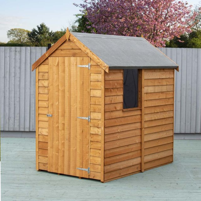 6 x 4 (1.83m x 1.16m) Shire Value Overlap Shed with Window