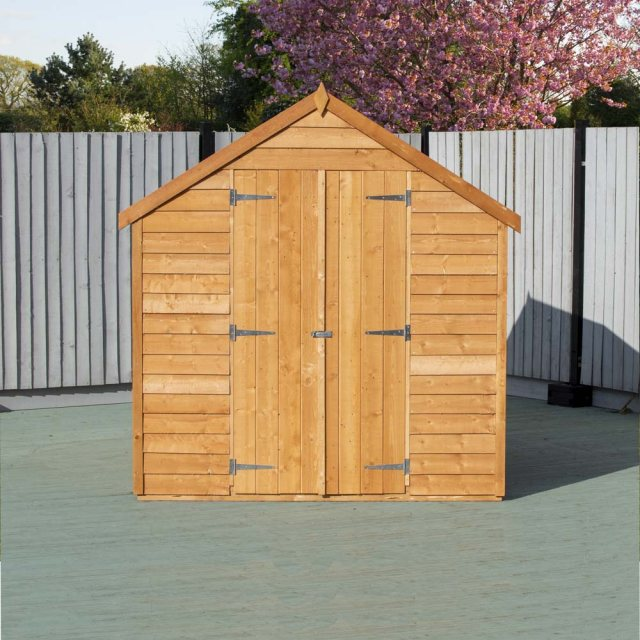 8 x 6 Shire Value Overlap Shed - Front on, doors closed