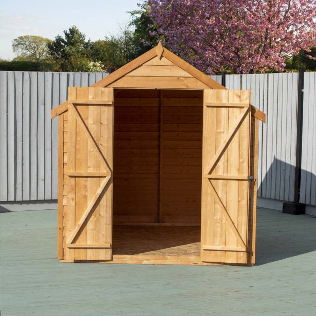 8 x 6 Shire Value Overlap Shed - Front on, doors open