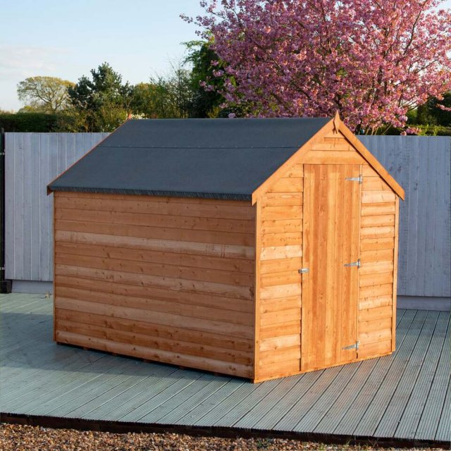 8 x 6 Shire Value Overlap Shed - windowless side view