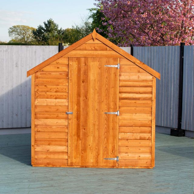 8 x 6 Shire Value Overlap Shed - front view, door closed