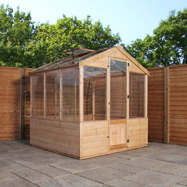 6 x 6 Mercia Traditional Greenhouse - side view