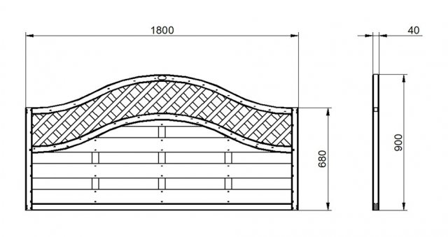 3ft High Forest Prague Fence Panels - dimensions