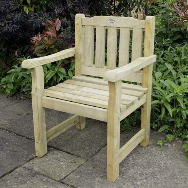 Forest Rosedene Chair - Pressure Treated - on paved area