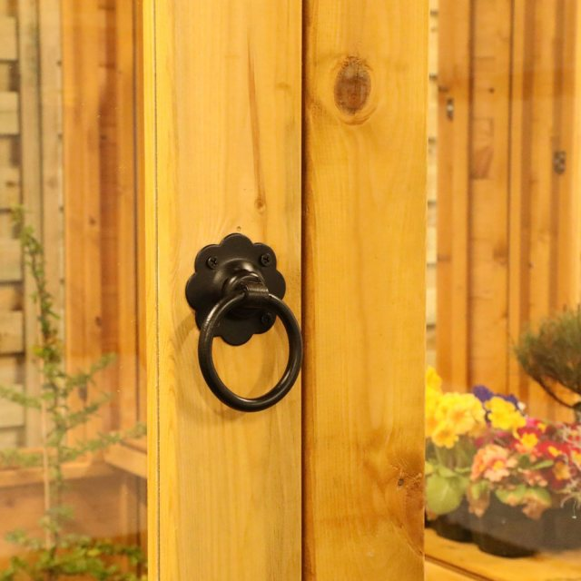 8x6 Mercia Octagonal Greenhouse - ring latch handle