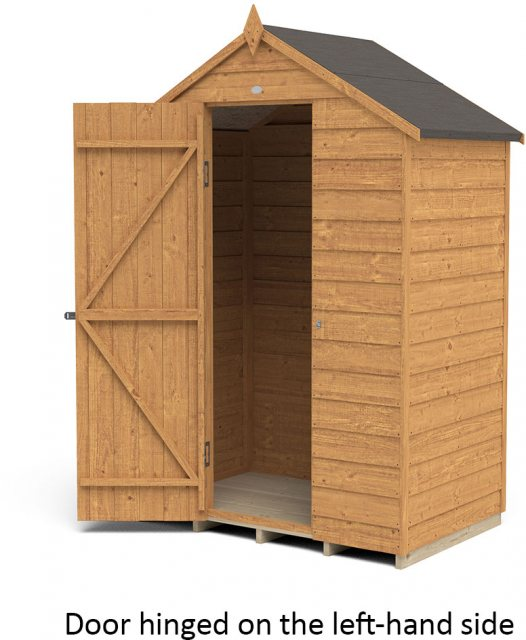 5 x 3 Forest Overlap Shed - Windowless - isolated with door hinged on the left hand side