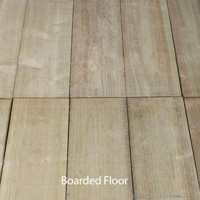 6 x 4 Forest Overlap Pent Garden Shed - boarded floor