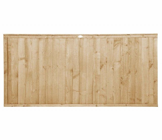 3ft High Forest Closeboard Fence Panel - Pressure Treated - Isolated view