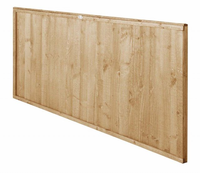 3ft High Forest Closeboard Fence Panel - Pressure Treated - Isolated angled view