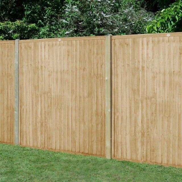 5ft High Forest Closeboard Fence Panel - Pressure Treated