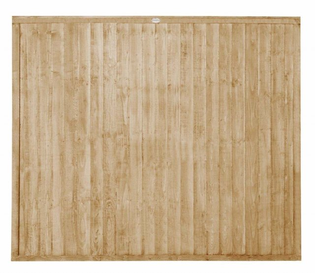 5ft High Forest Closeboard Fence Panel - Pressure Treated - Isolated view