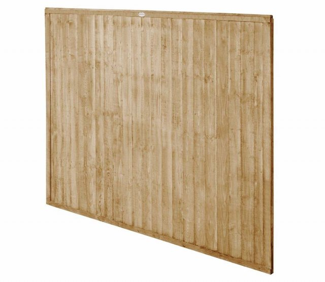 5ft High Forest Closeboard Fence Panel - Pressure Treated - Isolated angled view