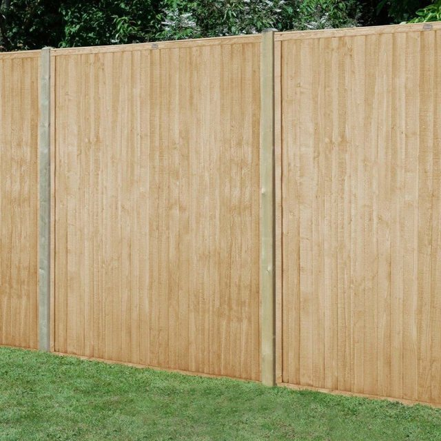 6ft High Forest Closeboard Fence Panel - Pressure Treated