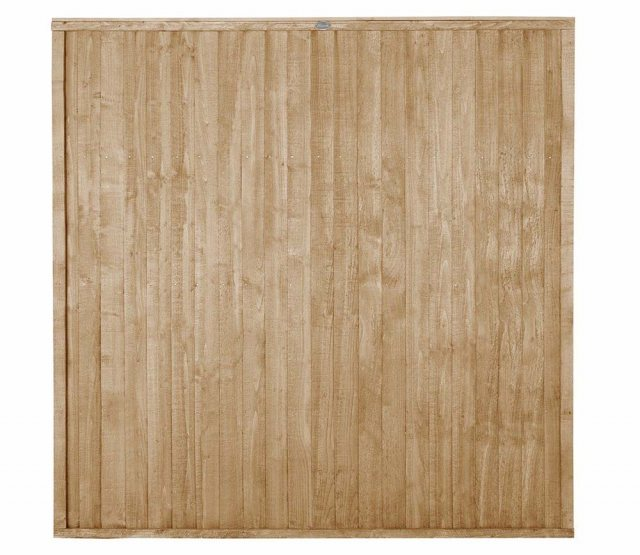 6ft High Forest Closeboard Fence Panel - Pressure Treated - Isolated view