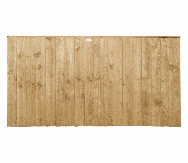3ft High Forest Featheredge Fence Panel - Pressure Treated - isolated view