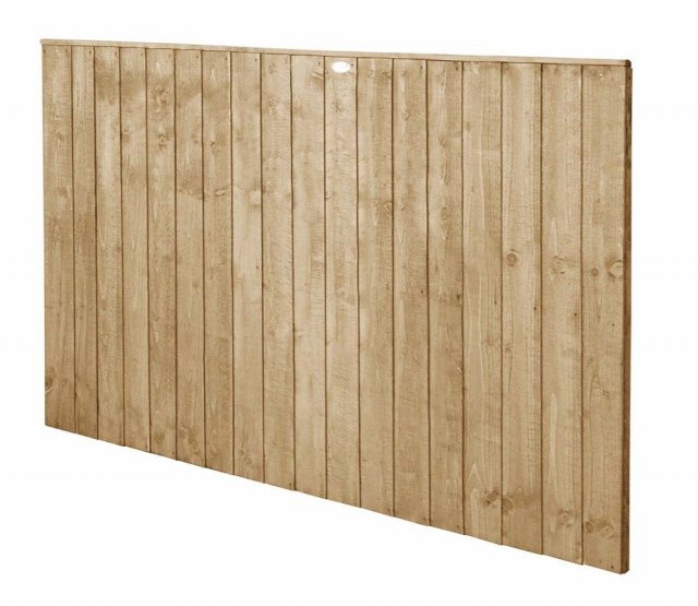 4ft High Forest Featheredge Fence Panel - Pressure Treated - isolated angled view