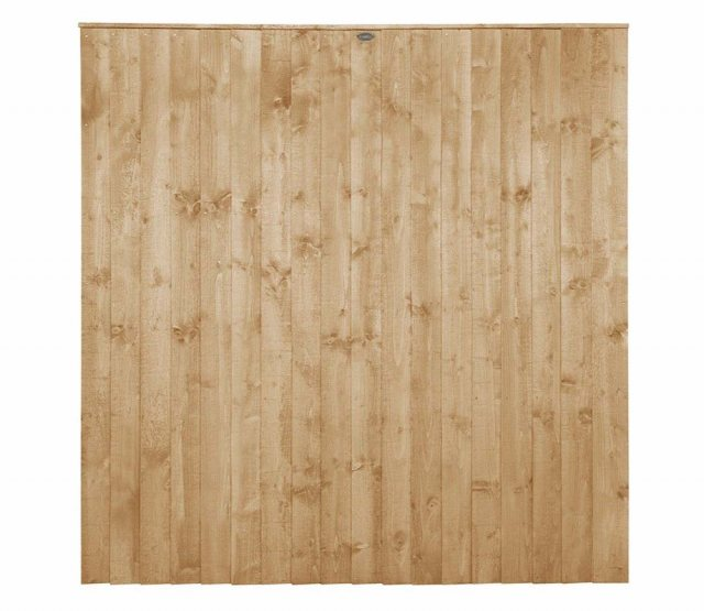 6ft High Forest Featheredge Fence Panel - Pressure Treated - isolated view