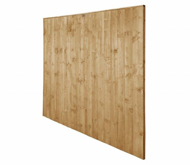 6ft High Forest Featheredge Fence Panel - Pressure Treated - isolated angled view