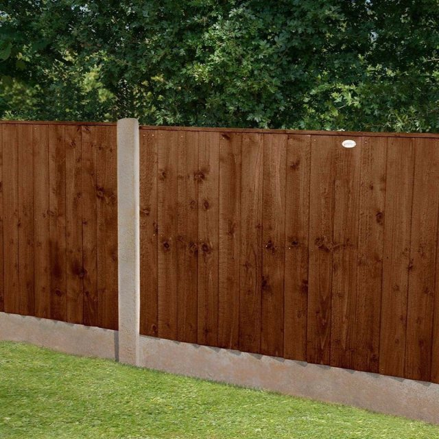 3ft High Forest Featheredge Fence Panel - Brown Pressure Treated