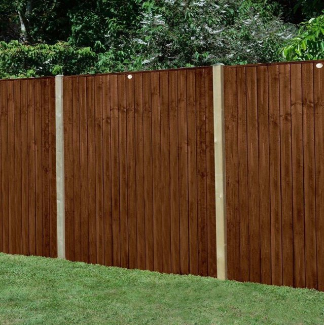 5ft High Forest Featheredge Fence Panel - Brown Pressure Treated