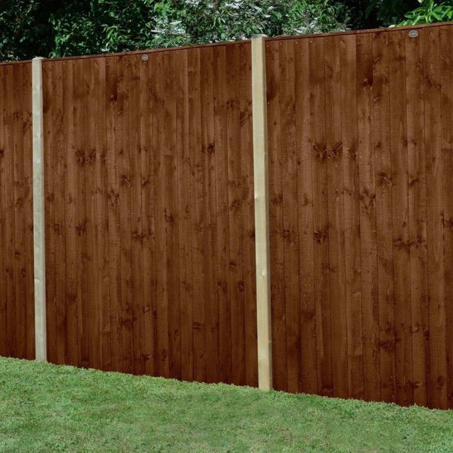 6ft High Forest Featheredge Fence Panel - Brown Pressure Treated
