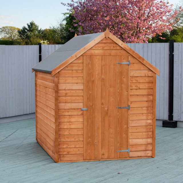 7 x 5 (2.05m x 1.62m) Shire Value Overlap Shed - door closed