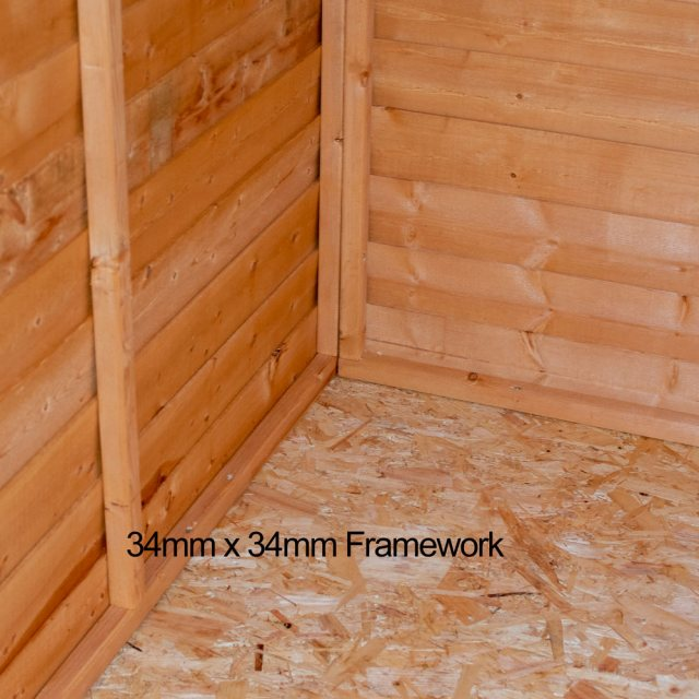 7 x 5 (2.05m x 1.62m) Shire Value Overlap Shed - framework and floor