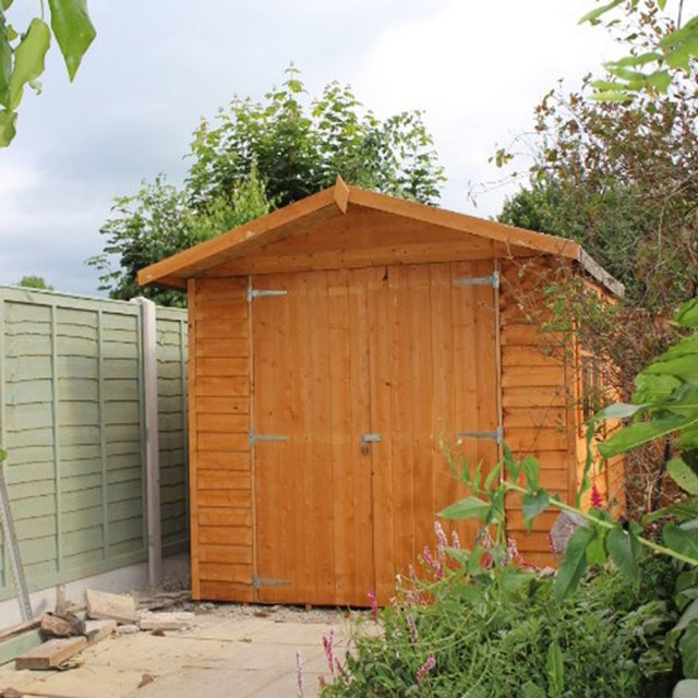 7 x 7 Shire Overlap Shed - front elevation with doors closed