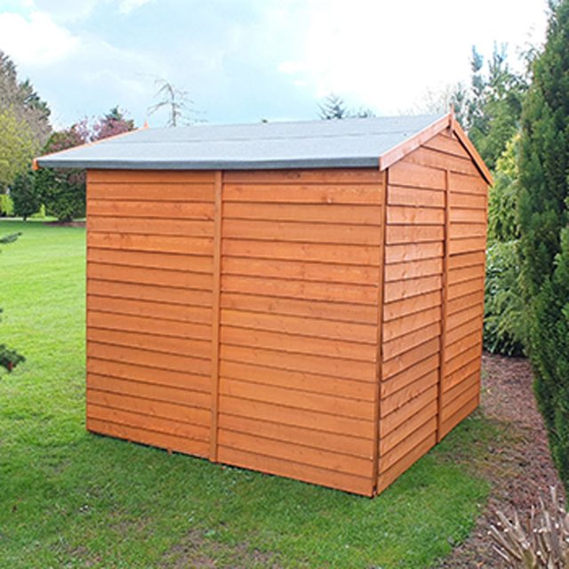 7 x 7 Shire Overlap Shed - side elevation