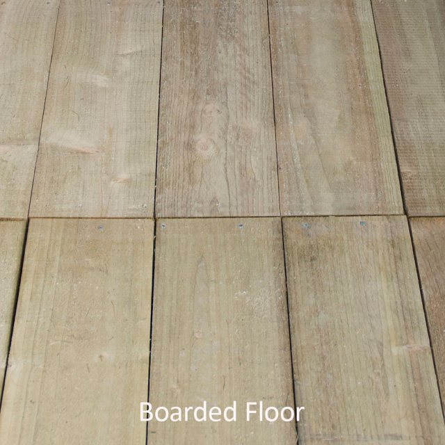 6x4 Forest Overlap Reverse Apex - Pressure Treated - boarded floor